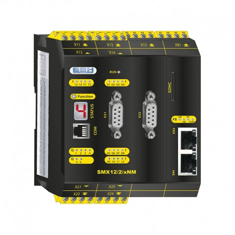 SMX 12/2/xBM Compact control with safe motion and communication module
