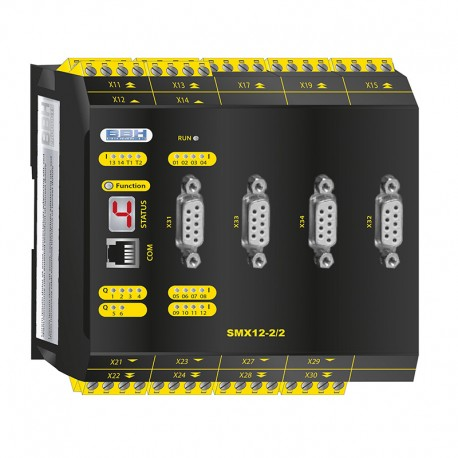 SMX12-2/2 compact safety control with safe motion