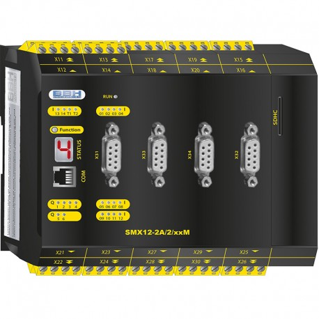 SMX12-2A/2/xxM Compact control with Safe Motion, analog Option and communication module