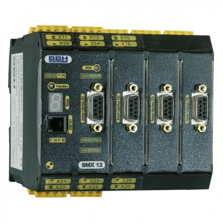 SMX 12-2 compact safety control with Safe Motion (advanced encoder) 4 encoder interfaces